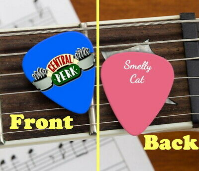 Friends TV Show Central Perk Smelly Cat Set of 3 premium Promo Guitar Pick Pic