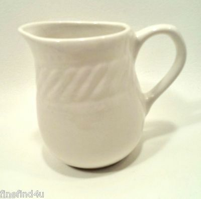 Gibson Housewares Designs BRAID CREAM Rope Dots China  Creamer Pitcher(s) Syrup