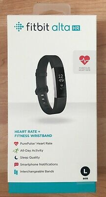 Fitbit Alta Heart Rate Fitness Wristband Activity Tracker - Large