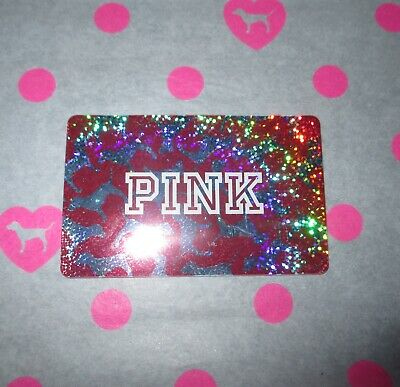 Victoria's Secret PINK Glitter Sparkle Dog Gift Card Collectible NO VALUE