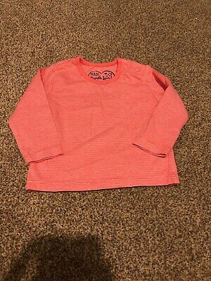 Early days pink white striped long sleeved top baby girls top 0-3 months