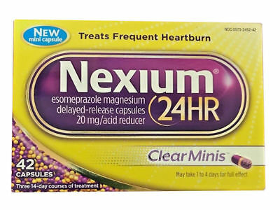 Nexium 24HR ClearMinis (20mg, 42 Count) Delayed Release Heartburn Relief Capsule