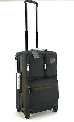 Tumi Briley International Expandable Carry-on Hickory Black Brown Suitcase