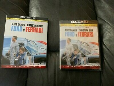 FORD v FERRARI 4K UKTRA HD - BLU RAY - DIGITAL CODE