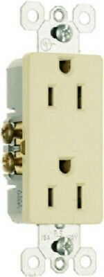 Pass & Seymour 10 Pack, 15A, 125V, Ivory, 2 Pole, 3 Wire Grounding, Outlet