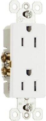 Pass & Seymour 10 Pack, 15A, 125V, White 2 Pole, 3 Wire Grounding Outlet