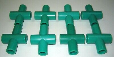 Tinkertoy Parts Lot of 3 Plastic ORANGE RAIL HOLDER Clip Replacement Tinker Toy