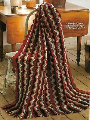New Age Throw Afghan crochet PATTERN INSTRUCTIONS