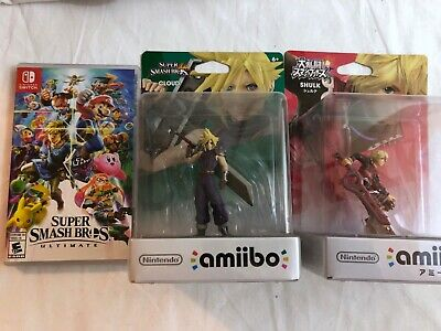 Super Smash Bros Ultimate with Cloud and Shulk Amiibos for Nintendo Switch