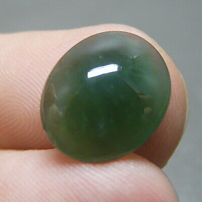 4.1 ct Genuine Jadeite Jade (Natural-Type A) Deep-Green Cabochon