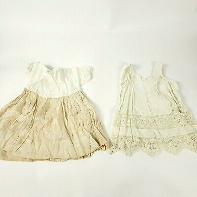 1915 2 Piece Antique Christening Gown Vintage Baby Dress Baptism Heirloom