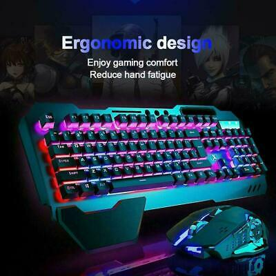 Rechargeable Gming Keyboard and Mouse Combo USB Wireless LED Backlit For PS4 AU