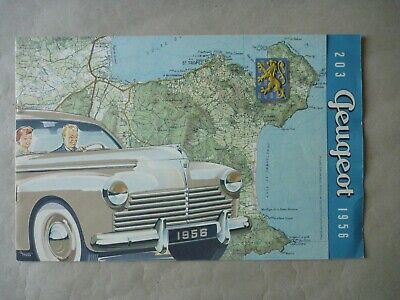 1956 PEUGEOT 203 CABRIOLET BREAK Brochure Prospekt Catalogue Dépliant French