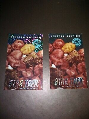 2 Dave and Buster's Star Trek TRIBBLES Limited Edition Cards