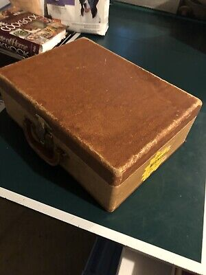 VINTAGE BROWN SMALL SUIT CASE SUITCASE Old Luggage Rare Repurpose Antique Nj