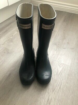 Hunter Wellies Navy kids size 2 UK (EU 34)