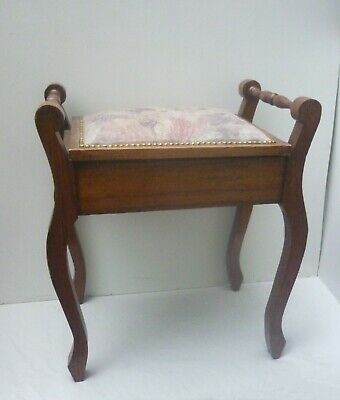 ANTIQUE or VINTAGE WOODEN PIANO STOOL