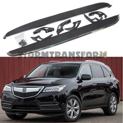 APU 2014-2019 Acura MDX Aluminum Running Boards Nerf Bars Side Step Tubes