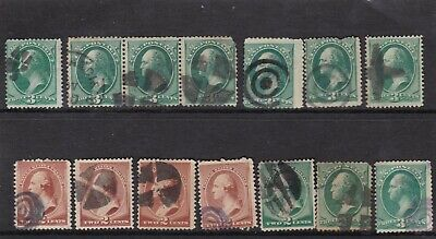 Usa George Washington 1970'S Used Fancy Cancels Some Faults