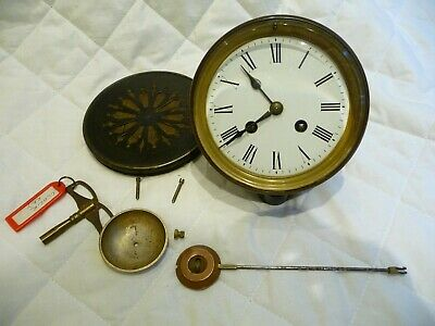 Antique French Bell Striking Complete Clock Movement+Key 1890s Project