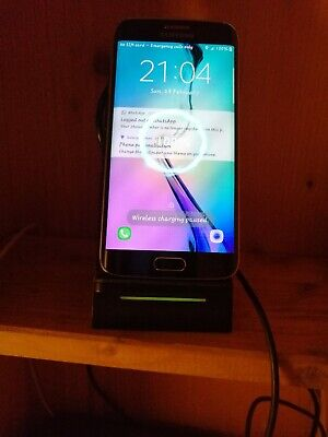 Samsung Galaxy S6 Edge - 32GB Black (Unlocked) Smartphone with wireless charger
