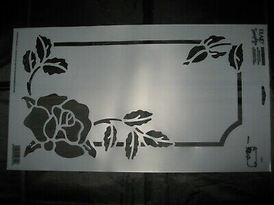 Vintage Simply Stencils by Plaid 1999 Mailbox Stencil Rose and Leaves #29611