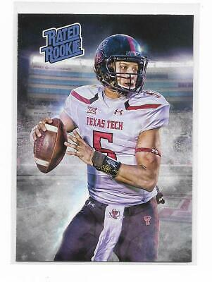 Patrick Mahomes 2017 NFL Draft Texas Tech Rated Rookie ACEO Art RC Chiefs