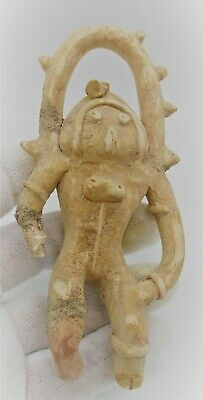 Circa 2200 - 1800 Bce Ancient Indus Valley Harappan Terracotta Fertility Idol