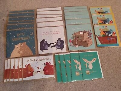 Mixed Animal Greetings Card Bundle Joblot Retail Wholesale Shop Ready