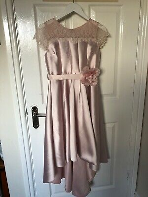 Beautiful Girls Dusky Pink Bridesmaid/Party Dress Age 12 By Monsoon