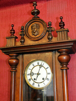 Antique Wall Clock Regulator Clock 19th century **WERNER ORIGINAL**
