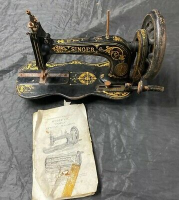 Singer 12k Hand Crank Sewing Machine Vintage Antique