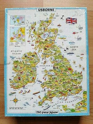 JIGSAW Usborne Map of the British Isles 250 Pieces 1993 Aged 7+ Educational