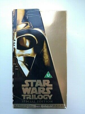 Star Wars Trilogy Special Edition 3 VHS Videos in Gold Box Set