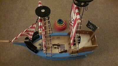 Small Foot Legler Wooden Pirate Ship Toy Jack