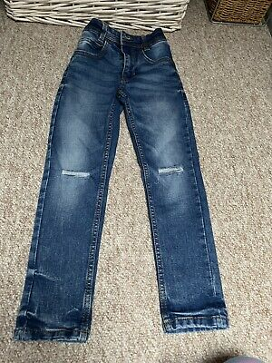 Boys Next Blue Denim Skinny Jeans Age 6 Years - Hardly Worn