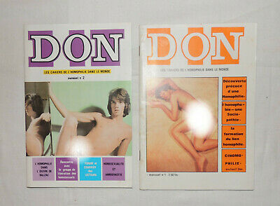 Rare Revue Don n°1&2 / Vintage Gay. French magazine. New