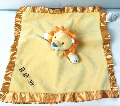 Stepping Stones Baby Yellow Gold Orange Lion Roar Security Blanket ROAARRR!