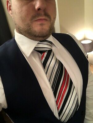 Scally Lads Office White Shirt Tie And Waistcoat