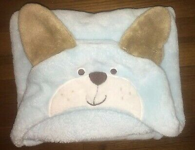 Carters Just One You Blue Hooded Teddy Bear Baby Blanket Security Lovey