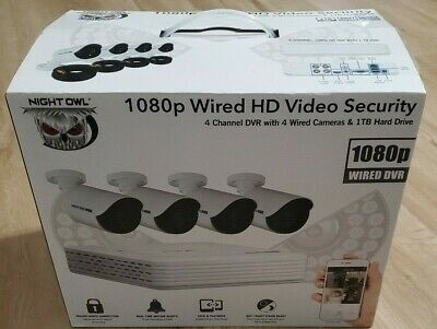 Night Owl WMBF-441-1080 4 Channel 1080p Camera Security System