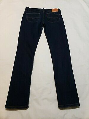 Levi's 510 Super Skinny Fit Blue Jeans Mens Actual Size 34 X 32 - M4471