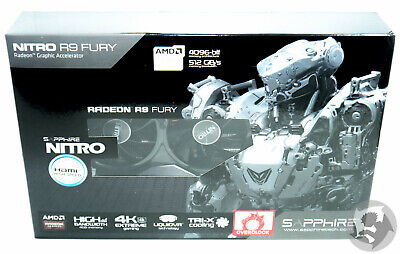 SAPPHIRE NITRO Radeon R9 FURY 4G HBM 512Gb/s - Brand New SEALED