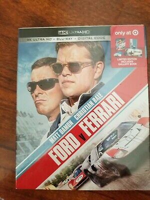 Ford v Ferrari ( 4K + Blu-Ray +Digital )Target Exclusive ***BRAND NEW***