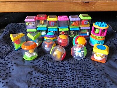 Bulk Lot Of Fisher Price Blocks -  Peek-a-boo / Roll-a-rounds/