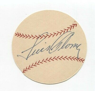 Luis Aloma Signed Paper Baseball Autographed Signature Chicago White Sox