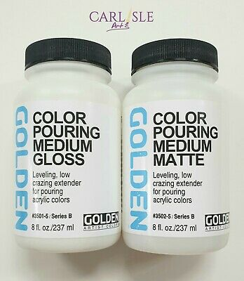Golden - Colour Pouring Medium - 236ml - Choose Your Finish