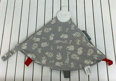 Cheeky Chompers Comfortchew Lovey Teething Blanket Baby Toy Gray Hippo Zoo NWOT