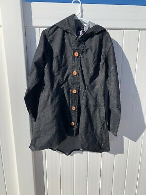 Travel Clothing By Half Moon Denim Cloak Jacket Wide Sleeve Size Regular