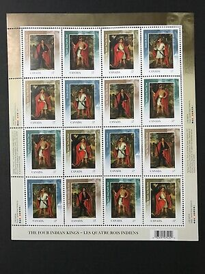Canada Stamps MNH 2380-2383a Four Indian Kings Sheet / Pane Of 16 (2010)